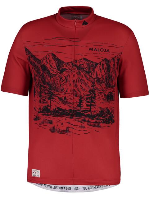 Maloja SerlasM. Short Sleeve Bike Jersey Men red poppy